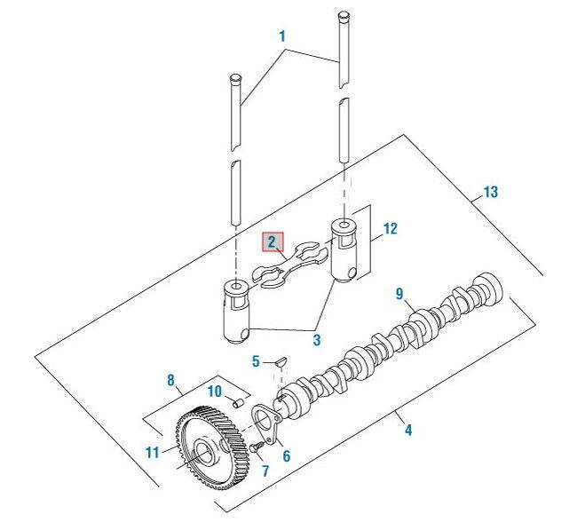 [SCHEMATICS_4HG]  Roller Lifter Guide for International DT466 DT466E Qty 1 # 490041 Ref#  1813892C1 | eBay | International 466t Engine Coolant Diagram |  | eBay