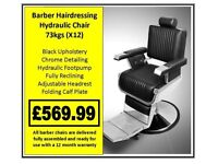 Barber Hairdressing Hydraulic Chair X12 £569.99
