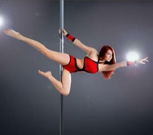 "Dancing Pole Stripper Dance Strip Spinning Pole 91""-108"" 153090"