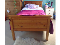 Single Bed - Stained Pine plus Matress and Nimbus Matress Topper