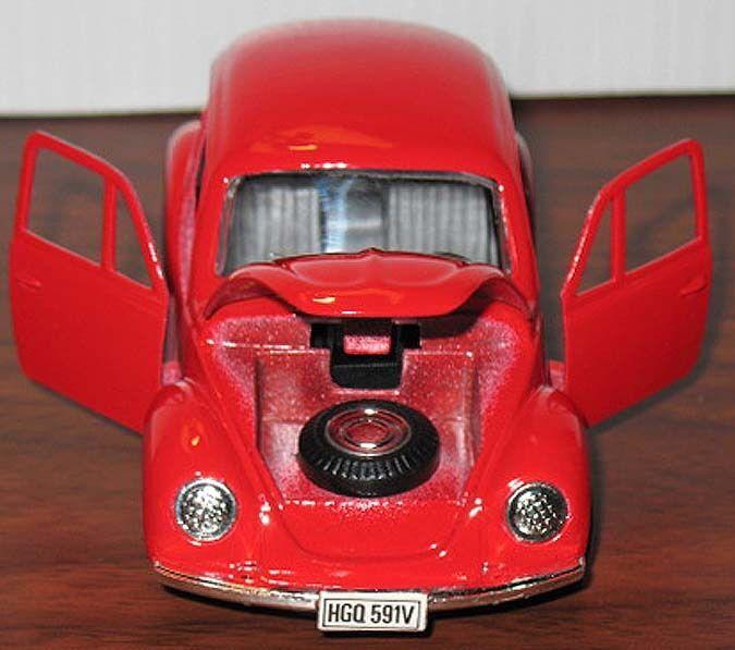 MINT Shackman Vintage VW BEETLE Big Black Diecast Metal Car FRICTION TOY Rare