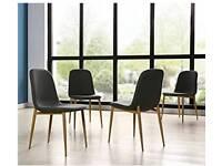 4 Scandi Retro style dining chairs **BNIB**