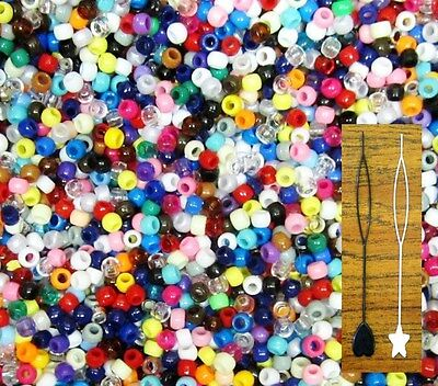 9mm 1000 Rounds (LOT OF 1000,2000,3000 PC--ROUND 6 X9 MM  HAIR PONY ,BEADS WAVE KANDI  )