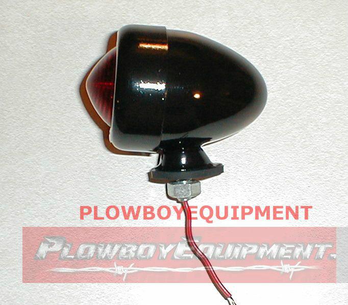 6v 6 Volt Black Tractor Bullet Tail Light For Allis Chalmers B C Ca Wd Wd45 +