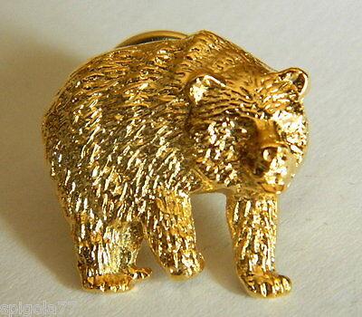 Broche la Cazador Representación Oso Col. Oro para Chaqueta y Chaleco '...