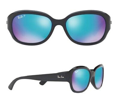 NEW Rayban Sunglasses RB4282CH 601/A1 55 Black Blue Polarized Chromance Jackie (Jackie O Polarized Sunglasses)