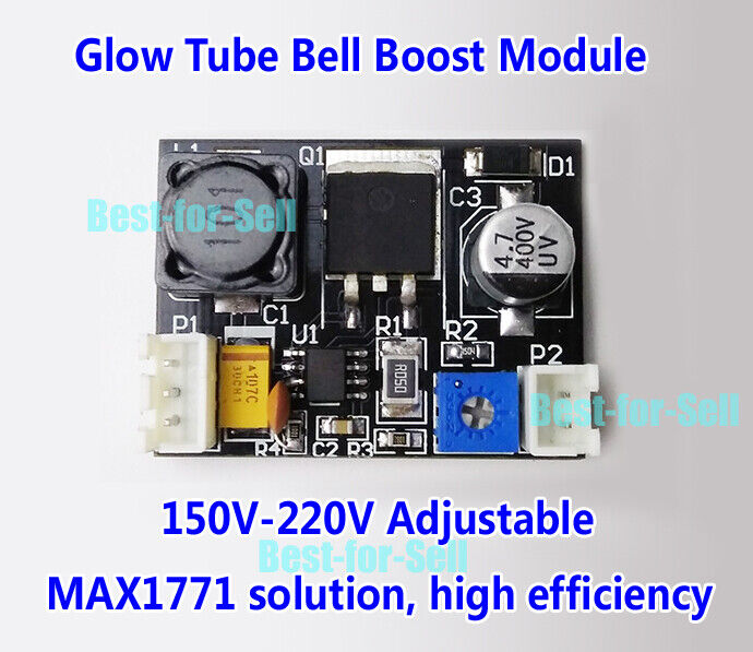 12V TO 170V High Voltage Boost DC Power Module for Nixie Tube Glow Magic Eye
