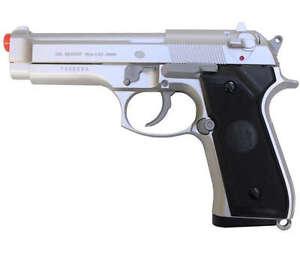 NEW-UHC-M9-92-FS-BERETTA-SPRING-AIRSOFT-PISTOL-HEAVY-SILVER-HAND-GUN-w-6mm-BB