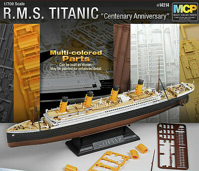 New  1 700 Multi Colored Parts R M S Titanic    Academy Model Kit