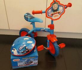 Toddlers Thomas The Tank Bike & Helmet As NEW