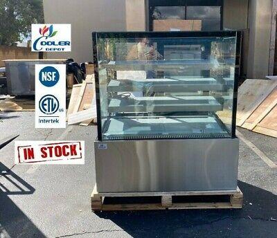 New 48 Bakery Deli Refrigerator Cooler Case Display Fridge Led Lighting Nsf