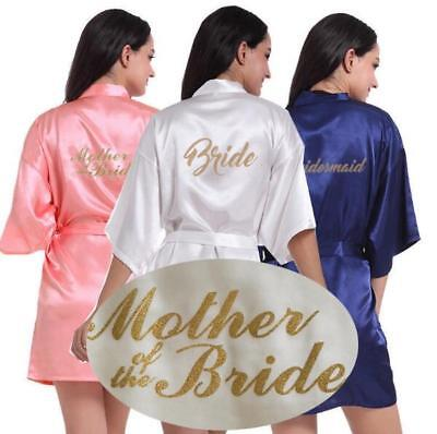 Women Wedding Robe Satin/silk robe Bridesmaid Bride maid of honor Dressing Gown](Maid Of Honor Robe)