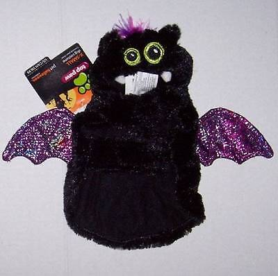 NWT Plush Bat Costume for Dogs Dog Black Purple Small Halloween