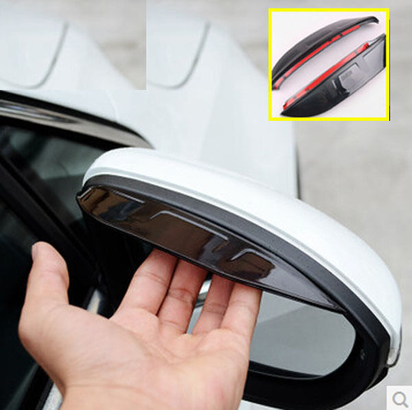 2P FIT FOR AUDI Q3 A4 A6 C6 DOOR SIDE WING MIRRORS RAIN GUARD VISOR SHIELD COVER