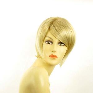 perruque femme courte blond dor m ch blond tr s clair aline 24bt613 ebay. Black Bedroom Furniture Sets. Home Design Ideas