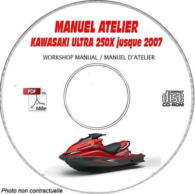 ULTRA 250X -07 Manuel Atelier CDROM KAWASAKI FR Expédition - 3 euros, Support - segunda mano  Embacar hacia Spain