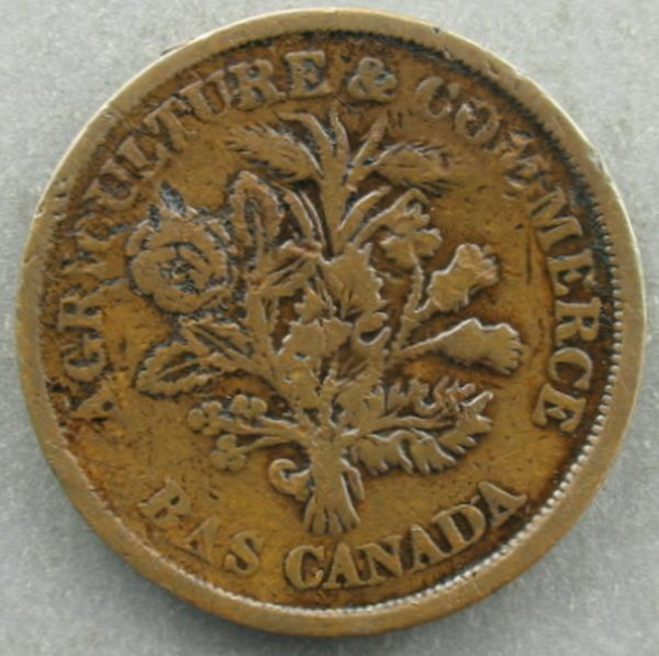 Canada- (1835-1837) Lower Canada 1 Sou – KM#Tn4 ~1816
