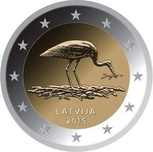 2 Euro Lettland 2015 - Schwarzer Storch - <span itemprop=availableAtOrFrom>Wien, Österreich</span> - 2 Euro Lettland 2015 - Schwarzer Storch - Wien, Österreich