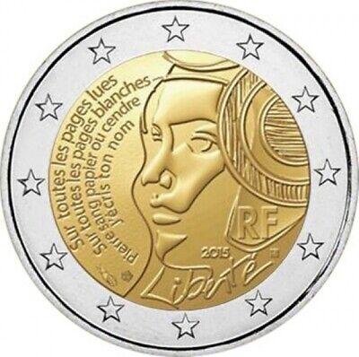Pièce de 2 euro France - Fédération 2015 (neuve vendue dans une capsule)