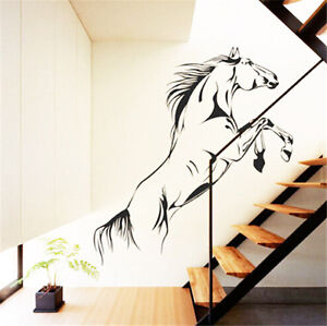 Home Decor Jumping Horse Wall Art Stickers Indoor Decorative Paster New Beauty