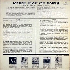 Edith Piaf–More Piaf Of Paris With The Orchestra Robert Chauvign West Island Greater Montréal image 2