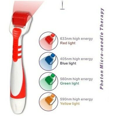 Roller Light - LED Vibrating Derma Roller Micro Needle- RED Light Size .25 mm- LED Skin Laser