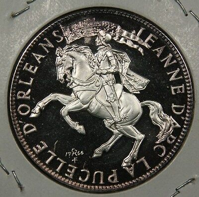 1412 1431 JOAN OF ARC CANONIZED 1920 .999 SILVER PROOF 26.6 GRAMS
