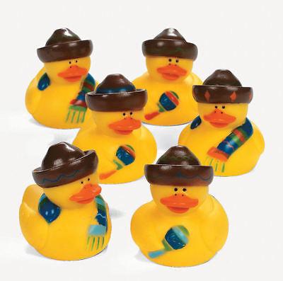 12 Fiesta Rubber Ducks party favors Spanish Mexican Cinco De Mayo Mariachi