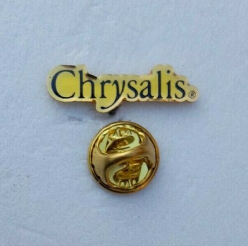 UK CHRYSALIS RECORDS BADGE / PIN BLONDIE URIAH HEEP JETHRO TULL SIMPLE MINDS UFO