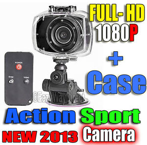 New 1080p Full HD Sport Action Helmet Camera Touchscreen Remote Waterproof Case