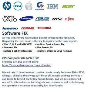 All Laptops and PC Repair - SOFTWARE FIX