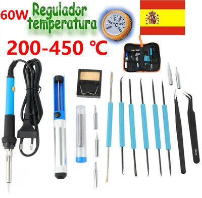 200-450 ℃ ESTAÑADOR SOLDADOR DE ESTAÑO ELECTRICO PROFESIONAL 60W-110V Kit