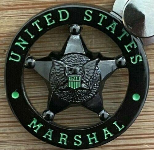 US Marshals Service - DUSM Shiny TacticalBLACK version Lapel Pin