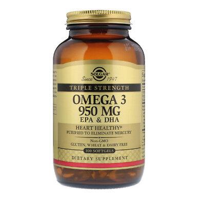 Omega 3 Solgar Epa   Dha  Triple Strength  950 Mg  100 Softgels Healthcare Diet