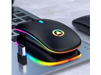 LED Backlit Rechargeable Wireless Mouse