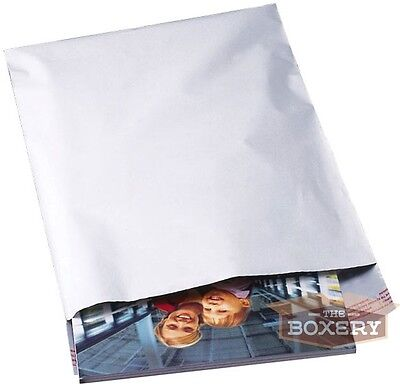 100 - 10x13 WHITE POLY MAILERS ENVELOPES BAGS 10 x 13 - 2.5MIL