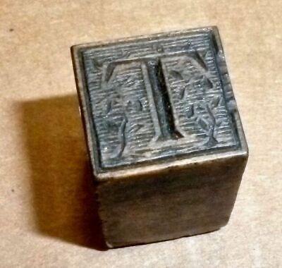 Letterpress Printing Wood Type Decorated Capital T 42-pt Bieler Press