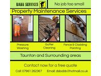 Property Maintenance Services Taunton: Pressure Washing, Gutter Cleaning, Fence Painting, Handyman