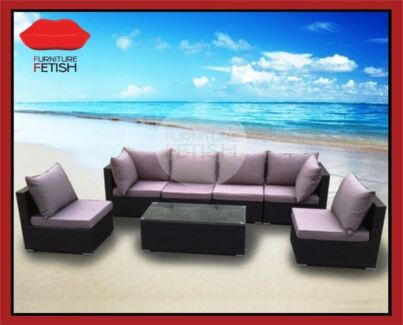 NEW Large Outdoor Lounge Suite & Coffee Table Wicker Furniture Nerang Gold Coast West Preview