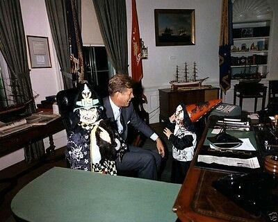 President John F. Kennedy with children on Halloween 1963 New 8x10 Photo