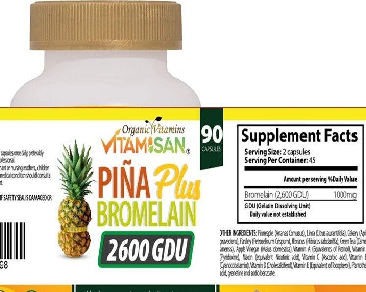 PINA SLIM CAPSULES Bromelain Pineapple Capsulas de Pina Slim Vida Keto 90 cap 1