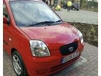 Kia picanto 999 cc ideal first car, low mileage & service history, M.O.T till january 2018