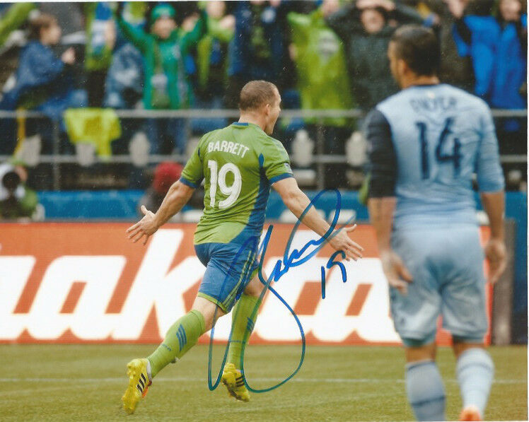 Seattle Sounders Chad Barrett Autographed Signed MLS 8x10 Photo COA