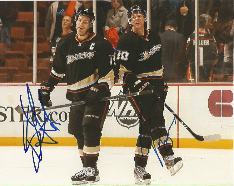 Anaheim Ducks Ryan Getzlaf Corey Perry Signed Autographed 8x10 Photo COA