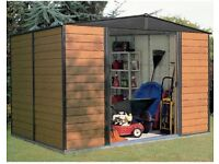 New Woodvale Metal Panel Shed (wood finish)