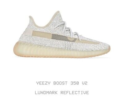 "Adidas Yeezy Boost 350 v2 ""Lundmark REFLECTIVE"" (10.5) Kanye Black 3M CONFIRMED for sale  Shipping to Canada"