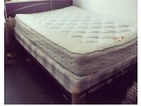 FREE BLACK METAL DOUBLE BED FRAME WITH TWO MATTRESSES!!