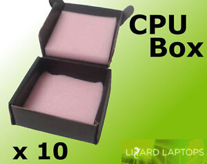 10x CPU Processor Packaging / Storage Box With Anti - Static Foam Protection