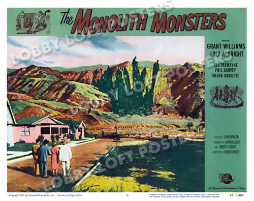THE MONOLITH MONSTERS LOBBY SCENE CARD # 5 POSTER 1957