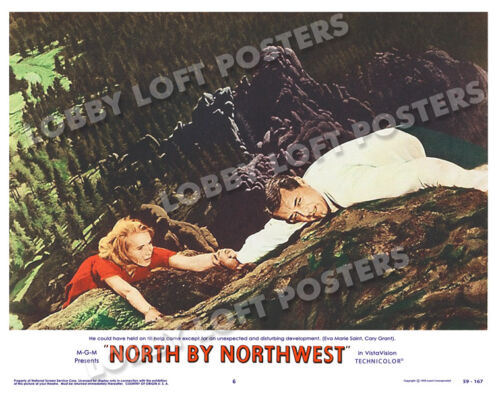 NORTH BY NORTHWEST LOBBY SCENE CARD # 6 POSTER 1959 CARY GRANT EVA MARIE SAINT